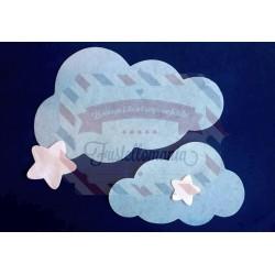 Fustella XXL Nuvola e stelle