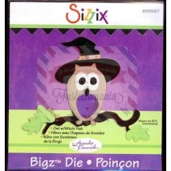 Fustella Sizzix Bigz Gufo con cappello da strega