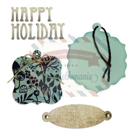 Fustella Sizzix Bigz Happy Holiday 2