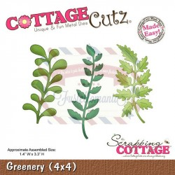 Fustella metallica Cottage Cutz Greenery