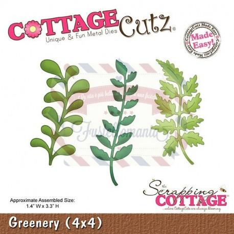 Fustella metallica Cottage Cutz Greenery Mis. ca. 3,55 x 8,38 cm.