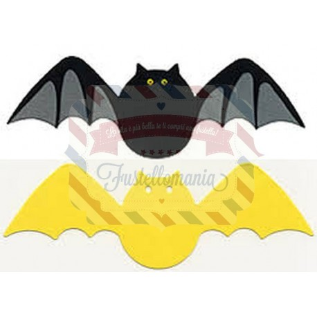 Fustella Sizzix Originals Yellow Pipistrello Bat