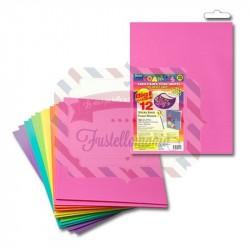 Fommy adesivo 12 fogli 22x30 colori assortiti