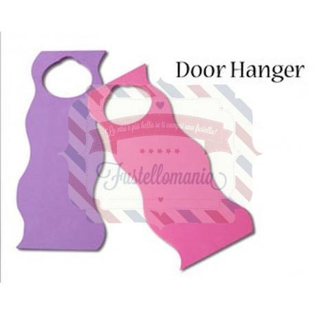 Door hanger colore rosa non disturbare