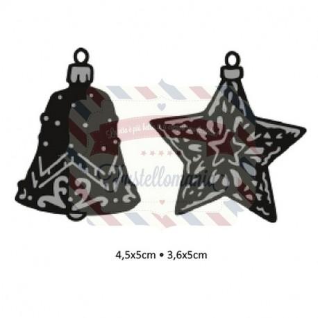 Fustella metallica Marianne Design Craftables Tiny's ornaments star & bell