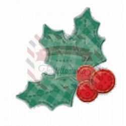 Fustella metallica Patchwork agrifoglio e bacche