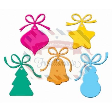 Fustella metallica Tag di Natale