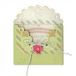Fustella Sizzix Bigz Envelope Scallop Lace