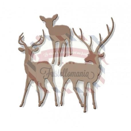 Fustella metallica Trio di renne