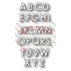 Fustella metallica Memory Box Uppercase Alphabet Soup