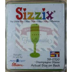 Fustella Sizzix Originals Green Champagne Glass