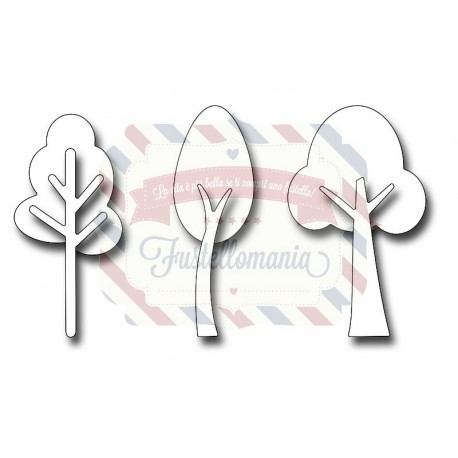 Fustella metallica Lollipop Trees