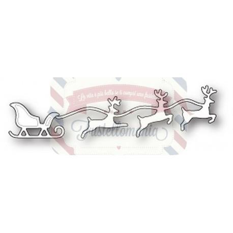 Fustella metallica Memory Box Small Reindeer Team