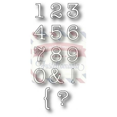 Fustella metallica Memory Box Typewriter Numbers