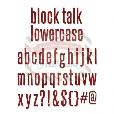 Fustella Sizzix BIGz XL Tim Holtz Alfabeto Block Talk lowercase