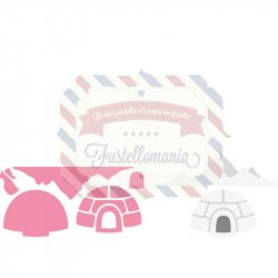 Fustella metallica Marianne Design Collectables Eline's Igloo and Mountain
