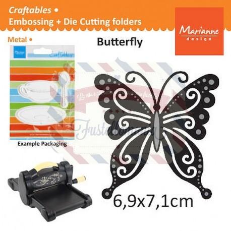 Fustella metallica Marianne Design Craftables Butterfly