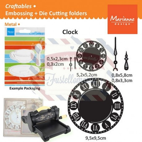 Fustella metallica Marianne Design Craftables Clock
