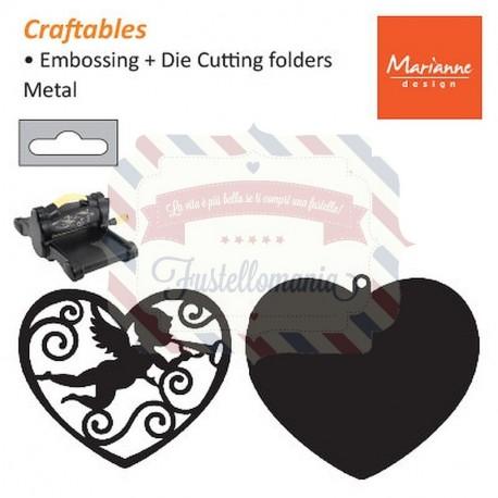 Fustella metallica Marianne Design Filigree Angel Heart