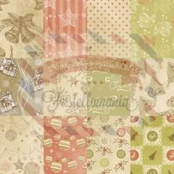 Carta Sogni Creativi 15x15 cm 24 fogli Vintage Christmas