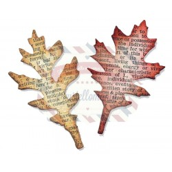 Fustella Sizzix Tim Holtz Movers & Shapers Tattered Leaves