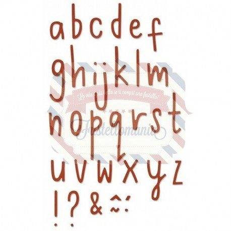 Fustella Sizzix Thinlits Alfabeto Delicate Letters 2