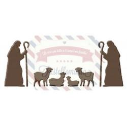 Fustella metallica Pastori e pecore