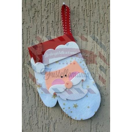 Fustella XL Guanto e viso Babbo Natale
