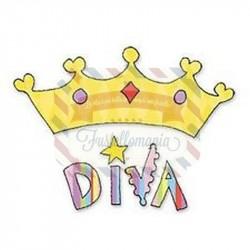 Fustella Sizzix Bigz Frase Diva con Corona
