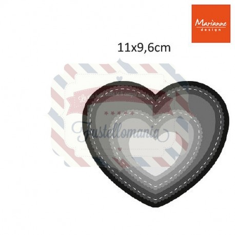 Fustella metallica Marianne Design Craftables Heart
