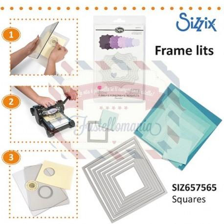 Fustella Sizzix Framelits Quadrati