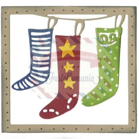Fustella Sizzix Thinlits Calze di Natale