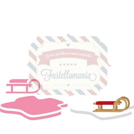 Fustella metallica Marianne Design Collectables Eline's sleigh and flow
