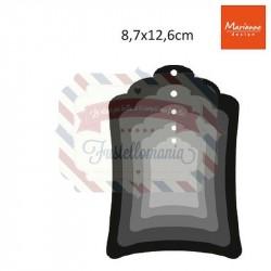 Fustella metallica Marianne Design Craftables Labels