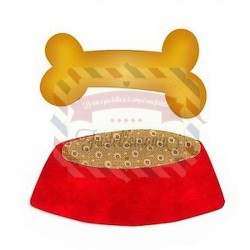 Fustella Sizzix Bigz Dog Dish and Bone