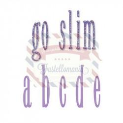 Fustella Sizzix Go Slim Lowercase alphabet