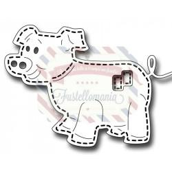Fustella metallica Stitched Pig