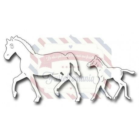 Fustella metallica Mare and Foal