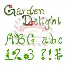 Fustella Sizzix Sizzlits Alfabeto Garden Delight