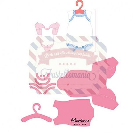Fustella metallica Marianne Design Collectables Eline's Baby Onesie