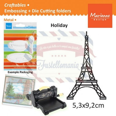 Fustella metallica Marianne Design Craftables Eiffel Tower