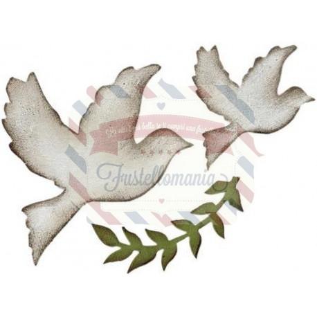 Fustella Sizzix Bigz Enchanted Doves