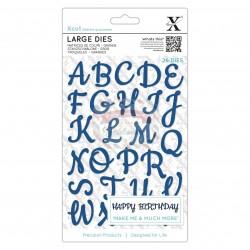 Fustella metallica Xcut Script Alphabet Uppercase
