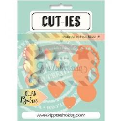 Fustella metallica CUT-IES Ocean Babies Seahorse Hearts