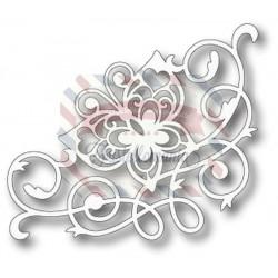 Fustella metallica Tutti Designs Flourish Butterfly Corner