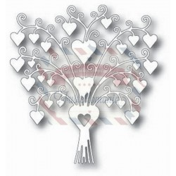Fustella metallica Tutti Designs Lovely Heart Bouquet