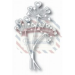 Fustella metallica Tutti Designs Stitched Heart Flower Stems