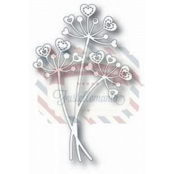 Fustella metallica Tutti Designs Stitched Heart Flower Stems