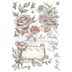 Set timbri formato A5 Antique Roses