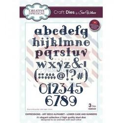 Fustella metallica Creative Expressions Art Deco Alphabet Lowercase